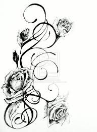 Roses and Vines tattoo- somewhere on shoulder.