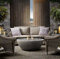 porch Concrete Outdoor Fireplace