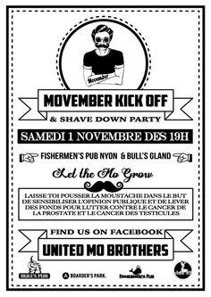 Affiche Movember 2014 Movember, Moustache, Ecards, Cancer, Memes, Event Posters, Electronic Cards, Mustache, Jokes