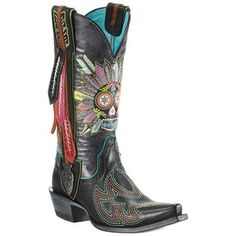 Slip into the Wild West in these Women's Gypsy Soule Indian Sugar Soule Western Boots by Ariat!