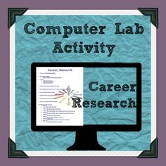 Career Research and Job Skills Computer Lab activity
