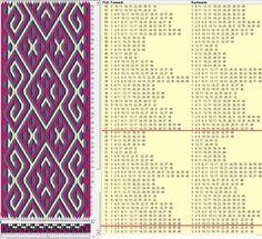 40 tarjetas, 4 colores, repite cada 24 movimientos // sed_453 diseñado en GTT༺❁