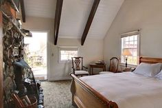 Room #18 The Upper Barn - $299.00 Queen, stone fireplace, jetted spa tub/shower, ocean view deck, refrigerator, microwave, coffeemaker, phone, high speed Internet, TV/DVD-CD and cable.  Call 1-800-609-0492 for a reservation.  www.maccallumhouse.com
