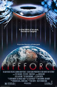 Lifeforce - Review: In Lifeforce (1985), Tobe Hooper (The Texas Chain Saw Massacre (1974), Poltergeist (1982), The Texas… #Movies #Movie