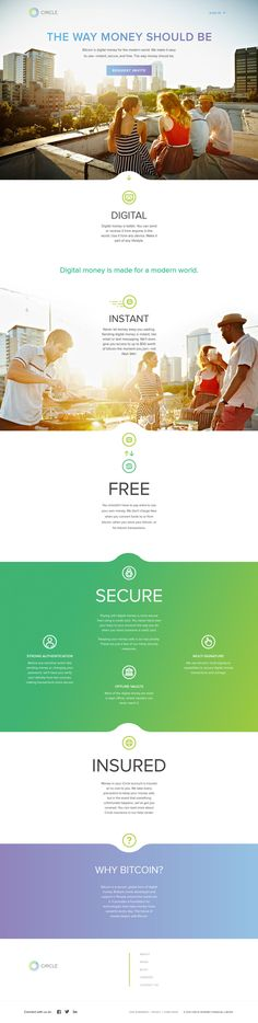 Flat Design Websit : Circle