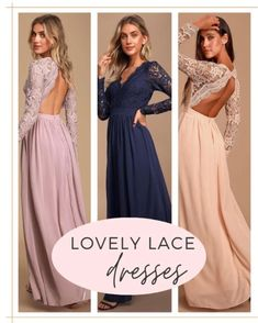Lace Dresses, Party Dresses, Formal Dresses, Winter Weddings, Bridesmaid Dresses, Wedding Dresses, Wedding Styles, Prom, Shopping