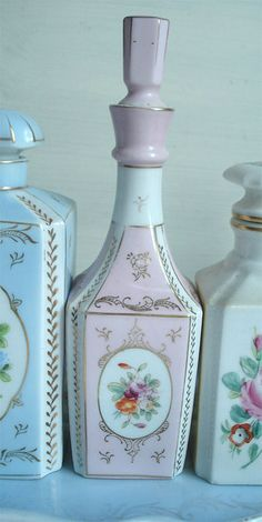 Pale Pink Vintage Perfume Bottle