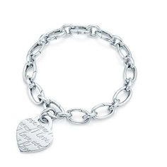 Tiffany Heart Bracelet I Love You Charm And Bracelet-$34.59