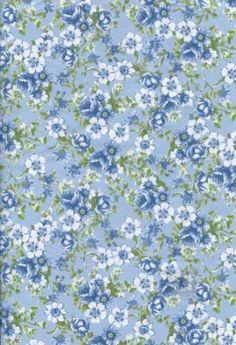 Бумага DECOPATCH Цветочки на голубом