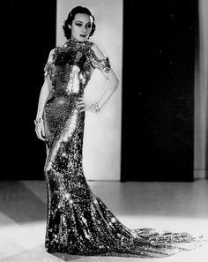 Dolores Del Rio wearing stunning Orry-Kelly gown in Wonder Bar, Jewelry by Joseff of Hollywood. Hollywood Fashion, Hollywood Stars, Hollywood Costume, Old Hollywood Glamour, Golden Age Of Hollywood, Vintage Hollywood, Hollywood Glam Dress, Oscar Fashion, 1930s Fashion