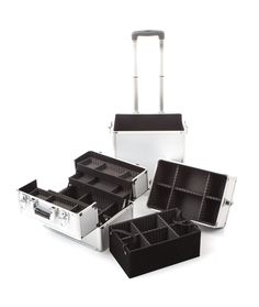 The Urbanity Classic Silver Beauty Trolley is perfect for professional mobile beauticians, nail technicians and hairdressers.  It breaks down so you can custom build it to suit your own needs.  With lots of seperate compartments, it's the perfect beauty storage solution!