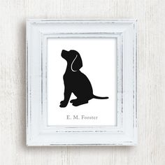 Personalized Beagle Silhouette version 3 by MillerSyeShadows, $24.00