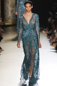 peacock beaded gown - Elie Saab Haute Couture A/W '12