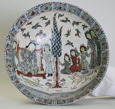 Seramik tabakta tahta çıkma töreni sahnesi, 12. yüzyıl Selçuklu dönemi. Selçuklu Arşivi (@selcukluarsivi) | Twitter