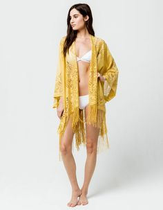25d2c815ee9 DO EVERYTHING IN LOVE Lace Ivory Womens Kimono - IVORY - SWK-1731