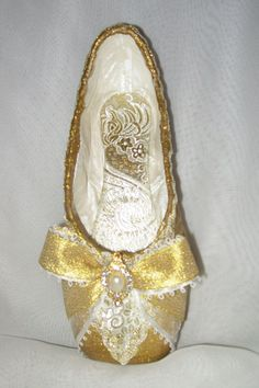 "Decorated pointe shoe inspired by the ballet  ""The Sleeping Beauty"" by FetchingFabulous, $40.00"