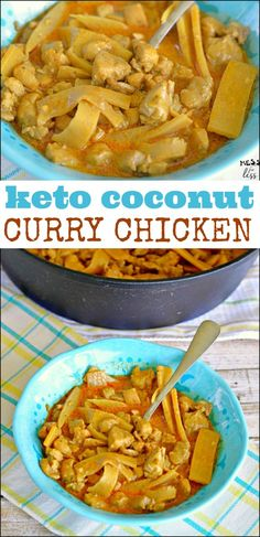This Keto Coconut Curry Chicken is filling and contains all of your favorite Curry flavors. Of course you don't have to be following a keto diet to enjoy this chicken. You can also serve it over a bed of rice for tasty dish. #keto #lowcarb #currychicken