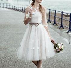 Vestido novia corto 15 | Handspire