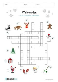 kreuzworträtsel - weihnachten | weihnachten spiele, weihnachten rätsel und deutsche weihnachten