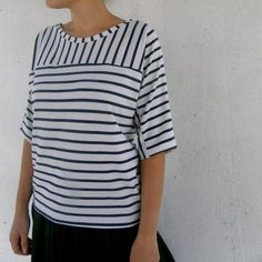 Cross Shirt blue stripes on white fabric von tsifcaonline auf Etsy, $39,00
