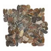 I'm going to be putting this on my bathroom floor. Pebble Floor, Wall And Floor Tiles, Pebble Tiles, Slate Tiles, Burgundy Wine, Slate Bathroom, Bathroom Ideas, Cabin Bathrooms