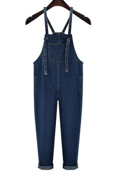 GET $50 NOW | Join RoseGal: Get YOUR $50 NOW!http://www.rosegal.com/plus-size-bottoms/trendy-high-waist-front-pocket-design-women-s-suspenders-denim-pants-474584.html?seid=7676397rg474584