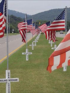 In a small town....honoring those fallen hero's!