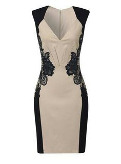 Love the style and cut of this dress! I think the lace detail would be figure flattering.