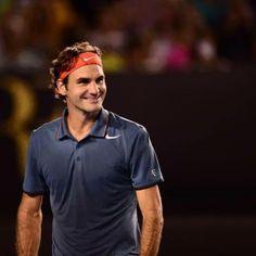 QF - Australian Open 2014 - 6-3, 6-4, 7-6, 6-3- the Federer smile that says bye, bye Murray :-)