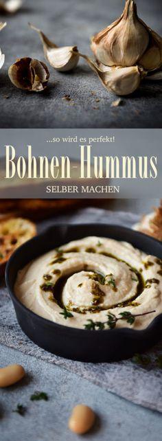 Rezept für Weisse-Bohnen-Hummus. So wird es perfekt!