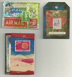 Mail Art Booklet -- I actually received this from Karen!