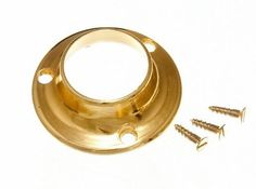 WARDROBE ROD RAIL SOCKET END SUPPORT BRACKET 25MM BRASS PLATED ( pack of 20 ) by ONESTOPDIY. $28.01. COMPLETE WITH FIXING SCREWS