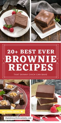 Best Ever Brownie Recipes - Roundup of over 20 Homemade Brownie recipes along with Tips for Making Brownies Homemade Desserts, Easy Desserts, Delicious Desserts, Dessert Recipes, Bar Recipes, Dessert Bars, Recipes Dinner, Best Chocolate Desserts, Cooking Chocolate