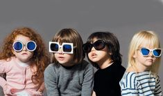 Stylish variety. Trendy #kids in #sunglasses share with you~#GlassesShop