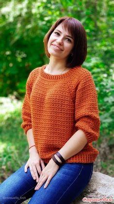10 modelos de blusa de crochê com gráfico do ponto ⋆ De Frente Para O Mar Ladies Cardigan Knitting Patterns, Crochet Pullover Pattern, Crochet Jacket, Crochet Cardigan, Easy Crochet, Crochet Baby, Knit Crochet, Crochet Designs, Crochet Patterns