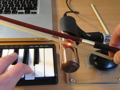 So cool! This violin makes music using lasers. Click to see it in action.