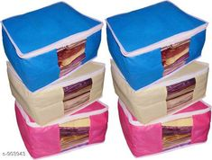 Apparel Storage Unique Non Woven Saree Cover  Combo Material: Non Woven Size: (L X W X H) - 42 in X 35 in X 35 in  Description: It Has 6 Pieces Of Saree Cover Country of Origin: India Sizes Available: Free Size   Catalog Rating: ★4 (322)  Catalog Name: Unique Non Woven Saree Cover Vol 1 CatalogID_105957 C131-SC1628 Code: 182-903943-036