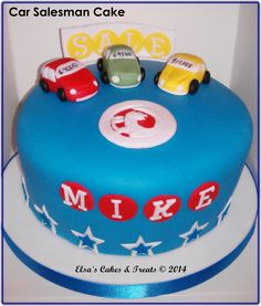 Car salesman cake by Amy Hart SweetHart Cakes by Amy Hart
