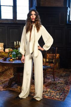 The complete Mara Hoffman Fall 2016 Ready-to-Wear fashion show now on Vogue Runway. #vouge #marafallpresentaton #fw2016marahoffman