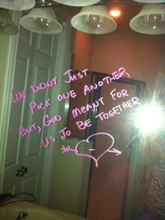 Bathroom Mirror Love Notes i love writing little love notes on the bathroom mirror. xoxo