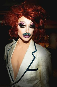 Milk Queen Rupaul's Drag Race Season 6 - I both love and hate her. But you go girl! She'd be giving me everything if she didn't have the mustache