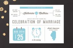 Love Graphics Wedding Invitations by Lehan Veenker at minted.com