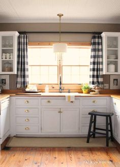 Beautiful Buffalo Plaid Black and Natural Curtains, Window Treatments Valances  Choose width of panels and your custom chosen length-with a 3 inch pocket rod for hanging. This listing is for 2 panels this is an upscale upholstering weight home decor cotton fabric.