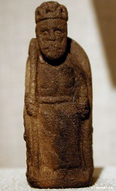Stone chess piece - king, 13th century, Northern Germany