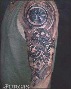 60 Cool Sleeve Tattoo Designs   Tattoo, Stuffing and Tatoo #tattoo #tattooideas #turbo