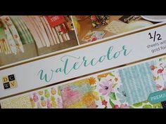 Haul Filofax DCWV Watercolour Designpapier Block, DCWV Paper Stack - YouTube