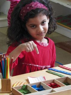 The use of manipulative materials in the math curriculum enables the child to internalize concepts of numbers, symbols, sequence, operations and basic facts. The colorful and inviting Montessori math materials offer a concrete representation of abstract mathematical concepts.  Through manipulating math materials, The Children's House student begins to develop a mathematical mind without the tedium and rote of table memorization.