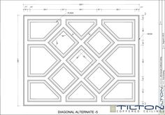 Coffered Ceiling Design Drawing - Bespoke 03