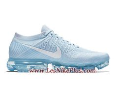 a6a0661d8c Sneaker Nike Air VaporMax Flyknit Chaussures de BasketBall Pas Cher Pour  Homme Blanc Bleu 849558-