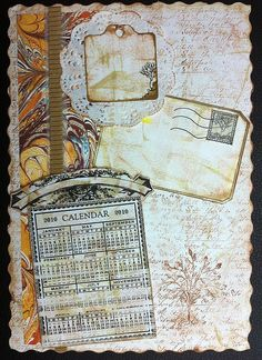 Page from an art journal by @Collage Scraps